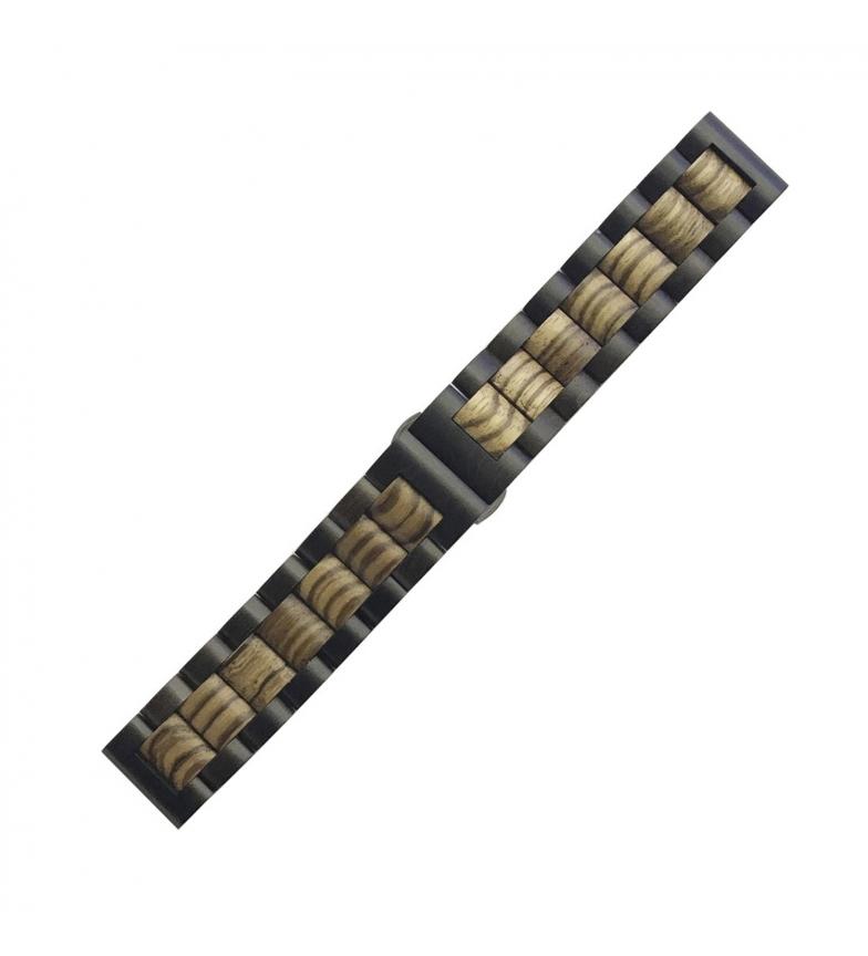 Comprar Tekkiwear by DAM Bracelete universal de madeira natural de bambu para relógios de 22 mm. Sistema de libertação rápida para uma mudança fácil.