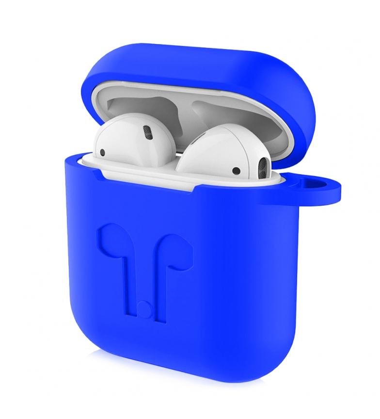 Comprar Tekkiwear by DAM Funda de silicona para base de carga de AirPods, con mosquetón azul