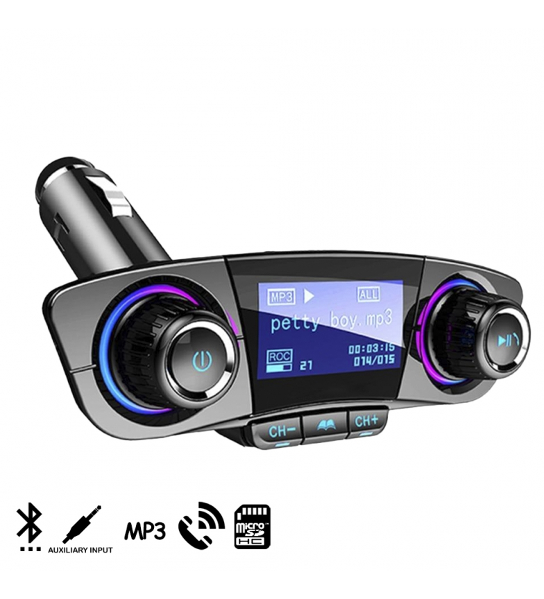 Comprar Tekkiwear by DAM Manos libres Bluetooth BT06 para coche con transmisor FM y pantalla de 1,3 pulgadas