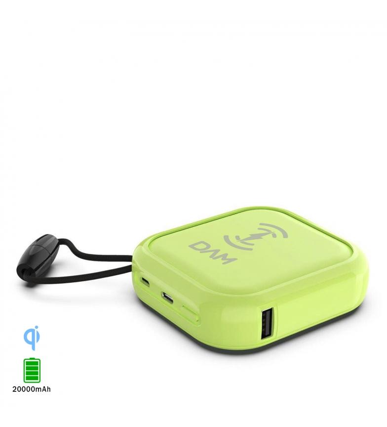 Comprar Tekkiwear by DAM 20.000 mAh multiposição sem fio PowerBank Qi, saída USB 2A dupla