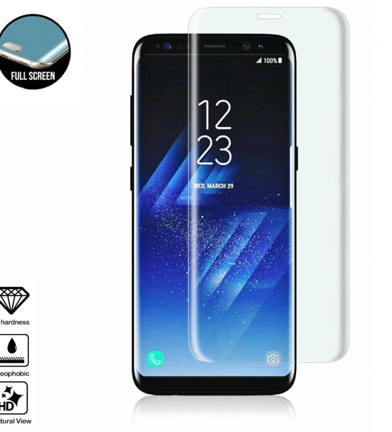 Comprar Tekkiwear by DAM Protector de cristal templado de pantalla completa curvado 4D para Samsung S8 Plus