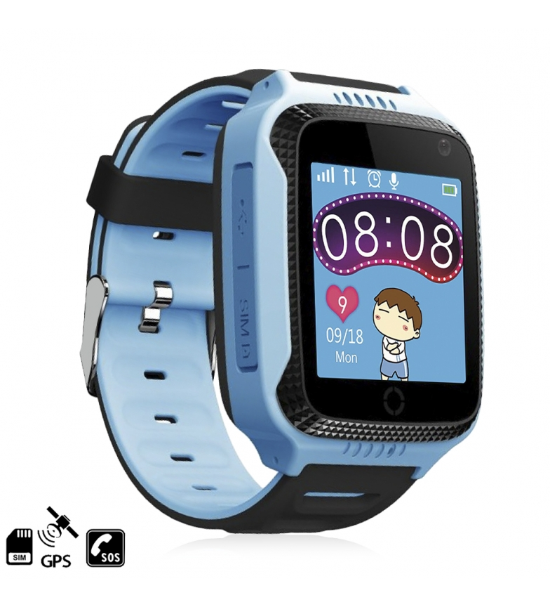 Comprar Tekkiwear by DAM Smartwatch GPS especial para crianças, com câmera, função de rastreamento, chamadas SOS e recepção de chamadas