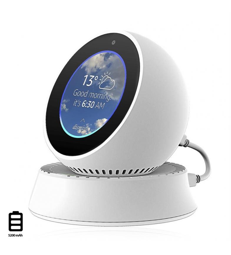 Comprar Tekkiwear by DAM Soporte para Amazon Echo Spot con powerbank de 5200mAh incorporado
