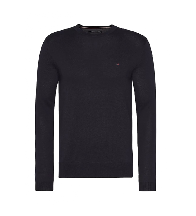 Tommy Hilfiger Jersey Core Cotton-Silk Cneck negro