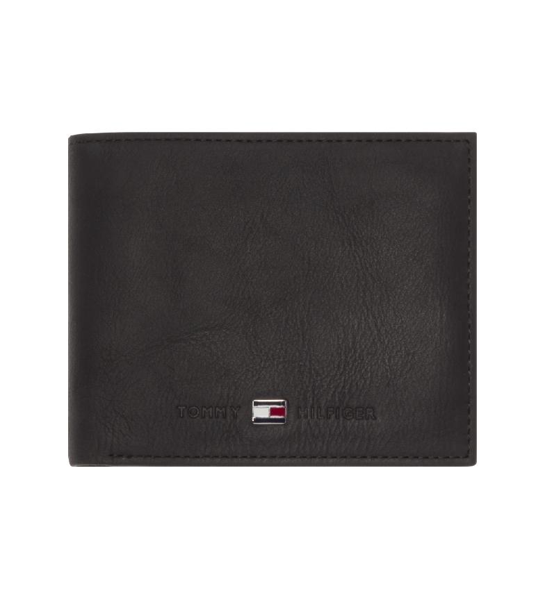 Comprar Tommy Hilfiger Carteira de couro Johnson preto -11x3x7cm