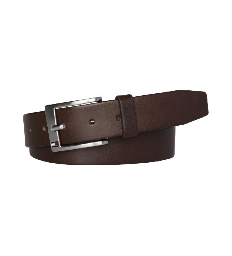 Comprar Tommy Hilfiger Cinturón de piel New Aly marrón oscuro