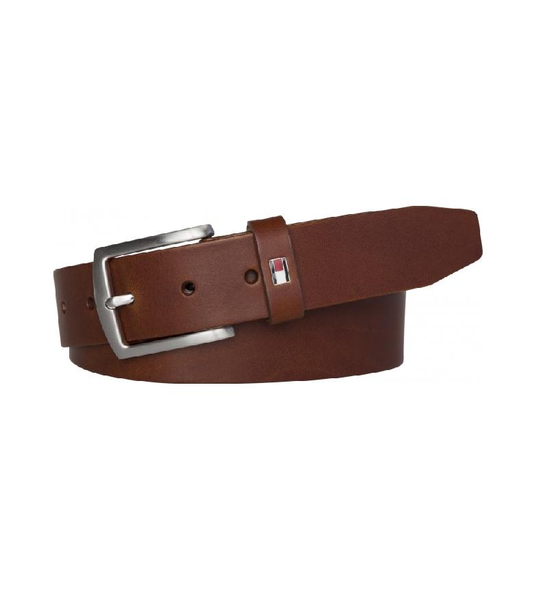 Comprar Tommy Hilfiger Cintura New Denton 3.5 in pelle marrone