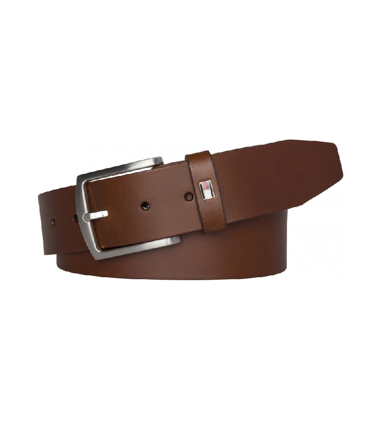 Tommy Hilfiger Cintura New Denton 4.0 in pelle marrone