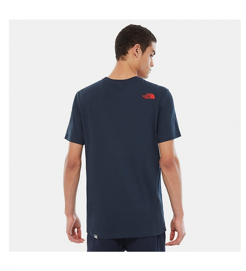 MarinoRojo The North Camiseta Face Dome Simple sxotrChQdB