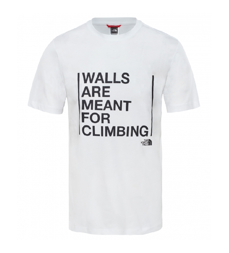 Comprar The North Face Camiseta Walls Are For Climbing blanco