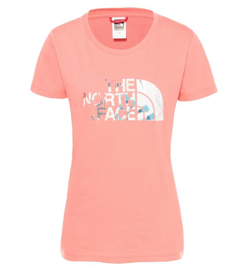 Comprar The North Face T-shirt facile en corail
