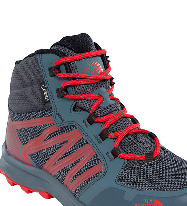 The North Face Botas Litewave Fastpack Mid gris, rojo / Gore Tex / 764g