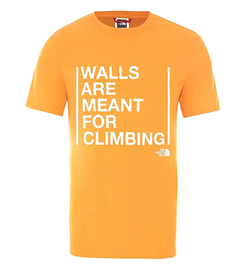 Comprar The North Face Walls Climb T-shirt orange