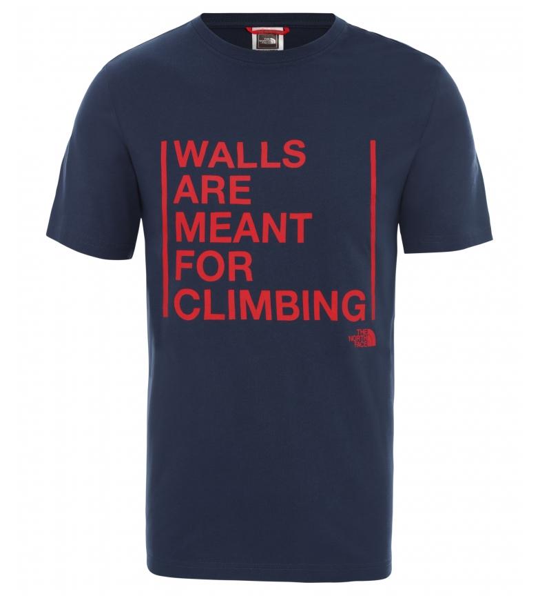 Comprar The North Face Camiseta M SS Walls Climb Tee marino