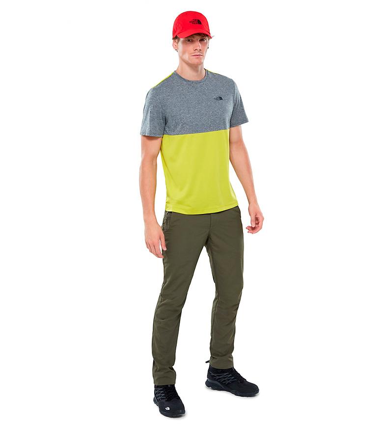 The North Face Camiseta Tansa gris, amarillo