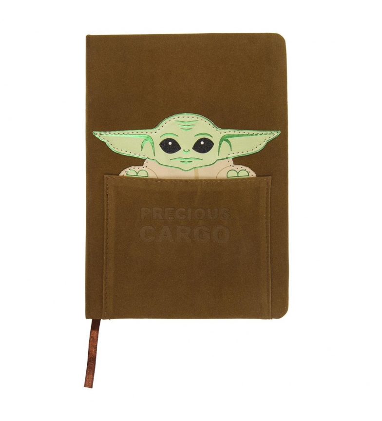 Comprar Star Wars Il quaderno di cuoio mandaloriano The Child Leather Notebook A5 marrone