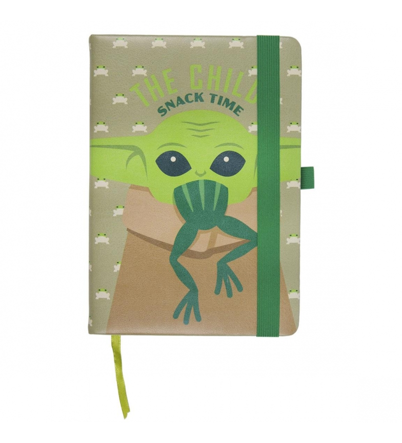 Comprar Star Wars Quaderno A5 in similpelle The Mandalorian The Child verde