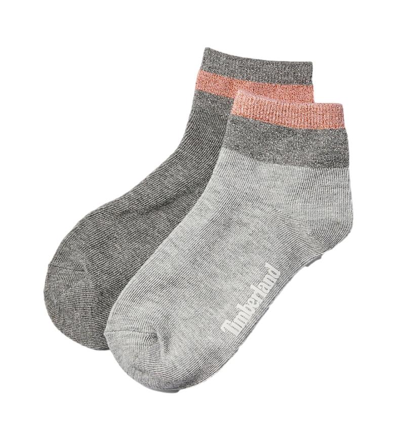 Comprar Timberland Lot de 2 chaussettes gris métallisé pour cheville
