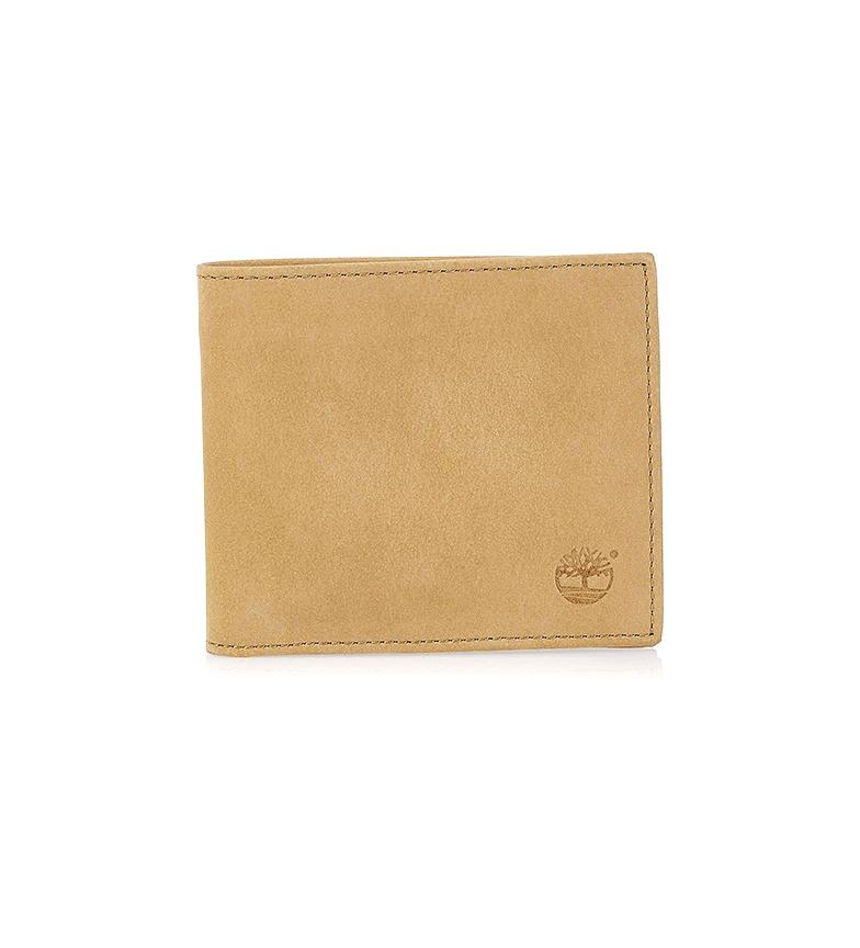 Timberland Carteira de couro camelo -30x20x5cm