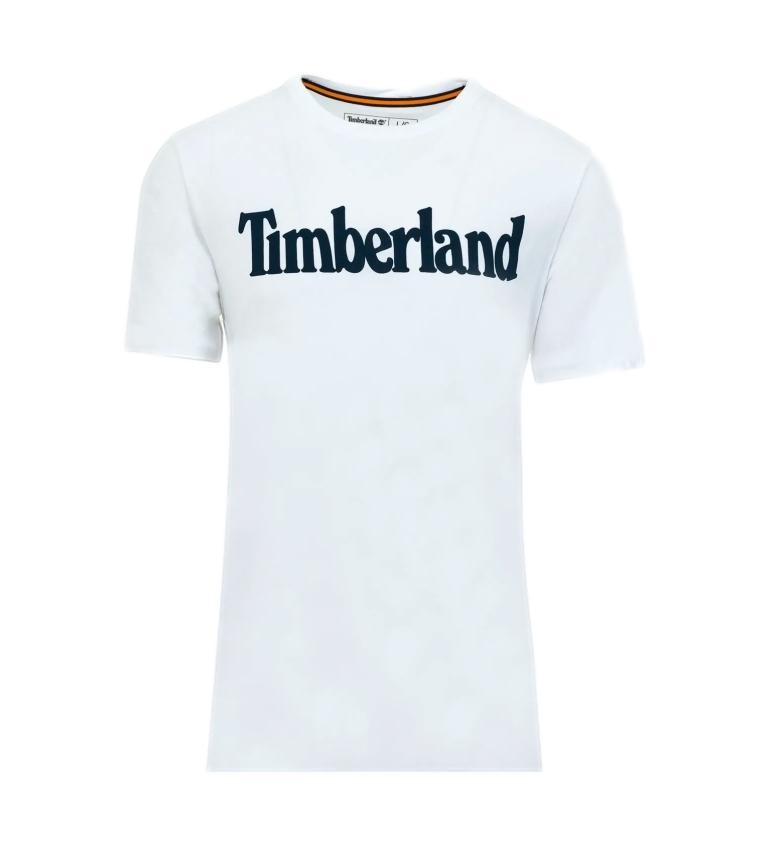 Timberland T-shirt bianca lineare Kennebec River Brand