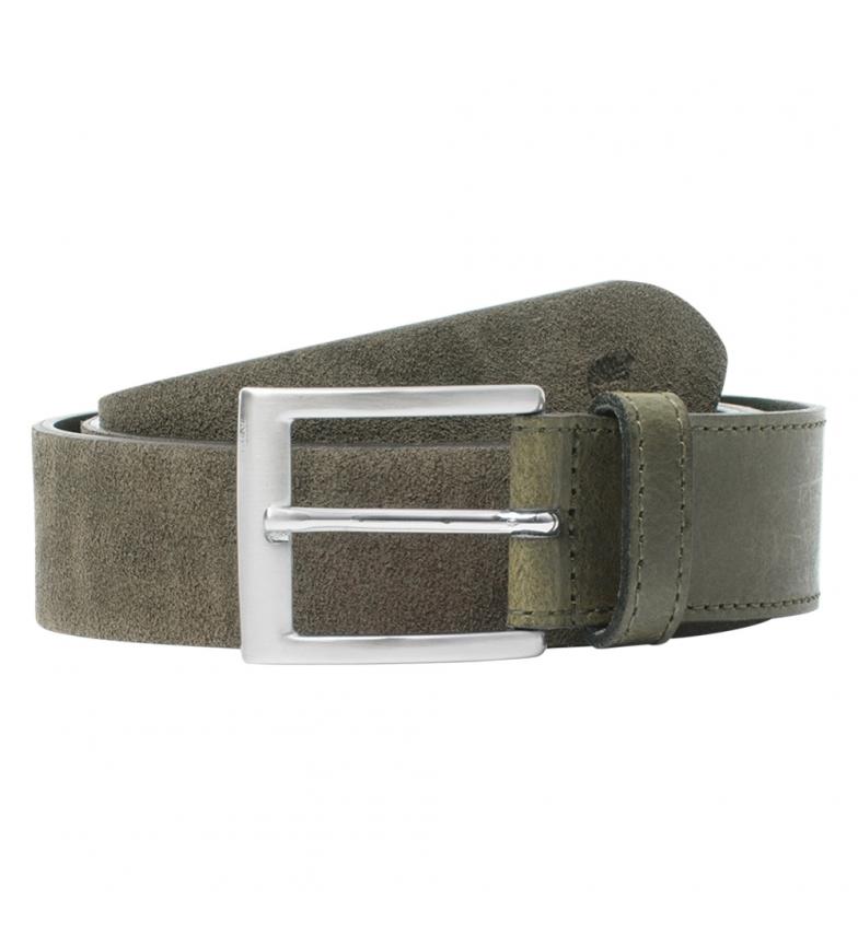 Comprar Timberland Cintura in pelle verde oliva -3,5 cm-