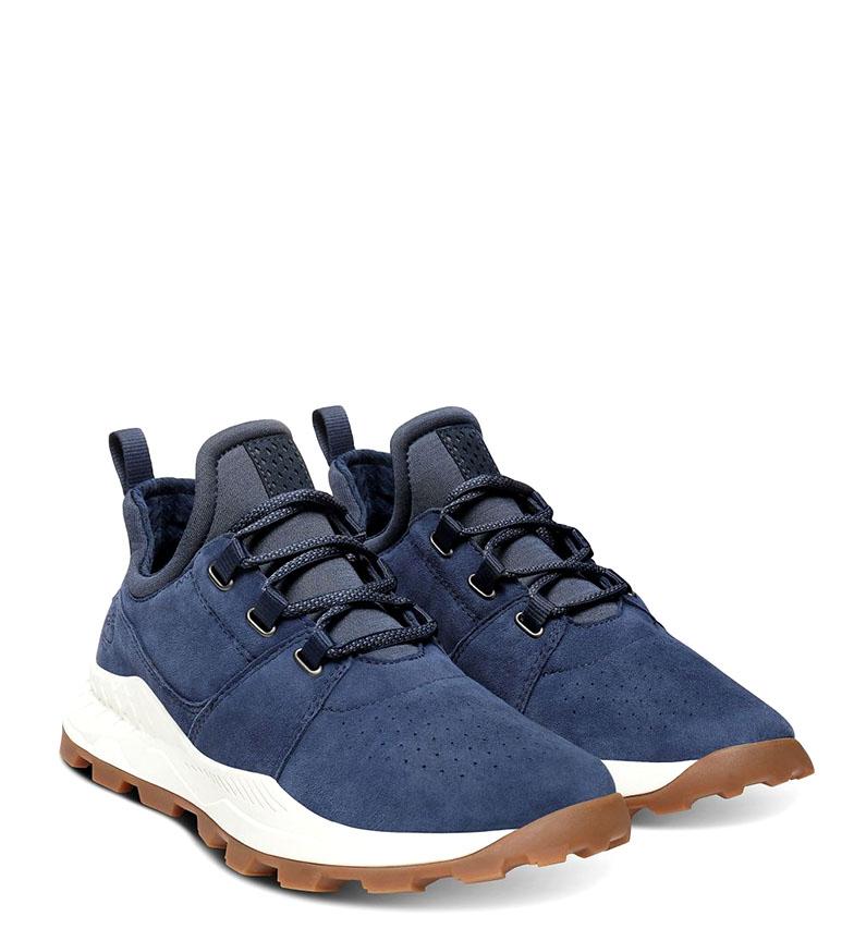 Brooklyn Timberland zapatillas Piel Oxford De Azul 8wPkOn0X