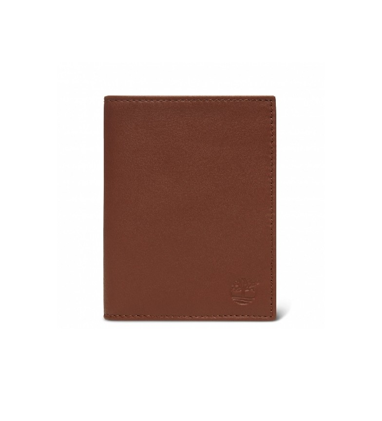 Comprar Timberland Vertical brown leather wallet -10x12,7cm