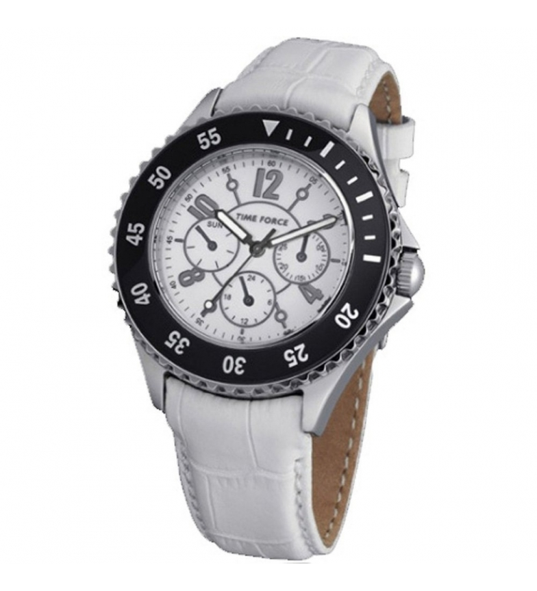 Comprar Time Force Analog chronograph clock TF3300L02 white