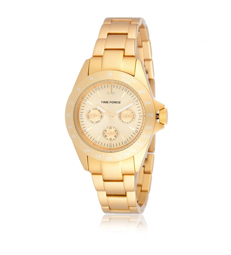 Comprar Time Force Analog chronograph watch TF4189L09M gold