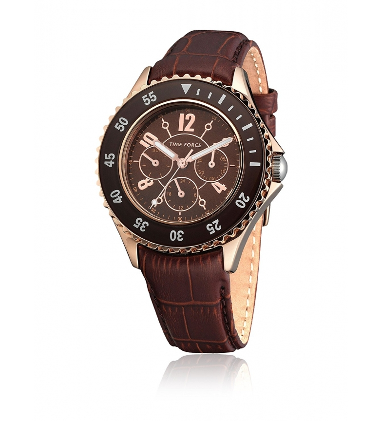 Comprar Time Force Analog chronograph watch TF3300L14 brown