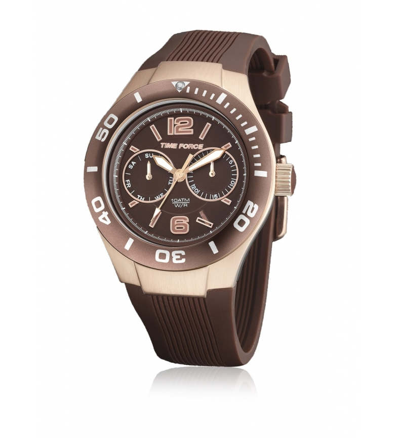 Comprar Time Force Montre chronographe analogique TF4181L15 marron