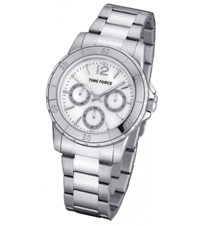 Comprar Time Force Analog chronograph watch TF4191L02M silver