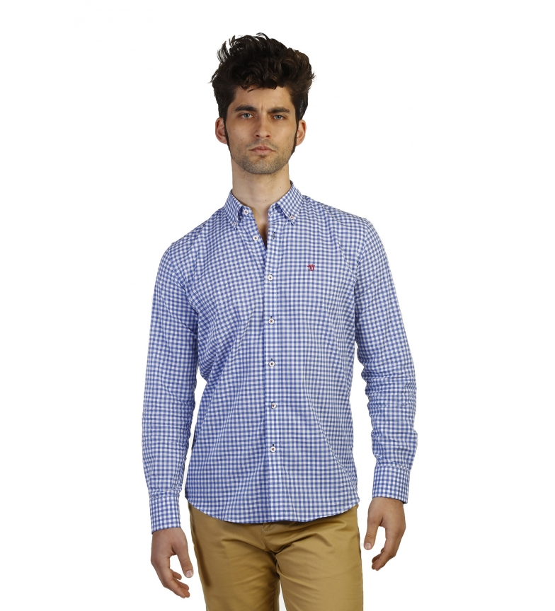 Cot Camisa Azul Of Bocha Cuadros Time pSUzMVqG