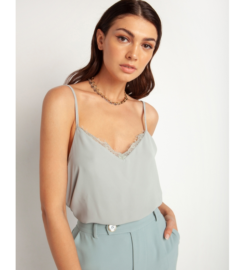 Comprar Toi&Moi Turquoise strapless blouse with lace