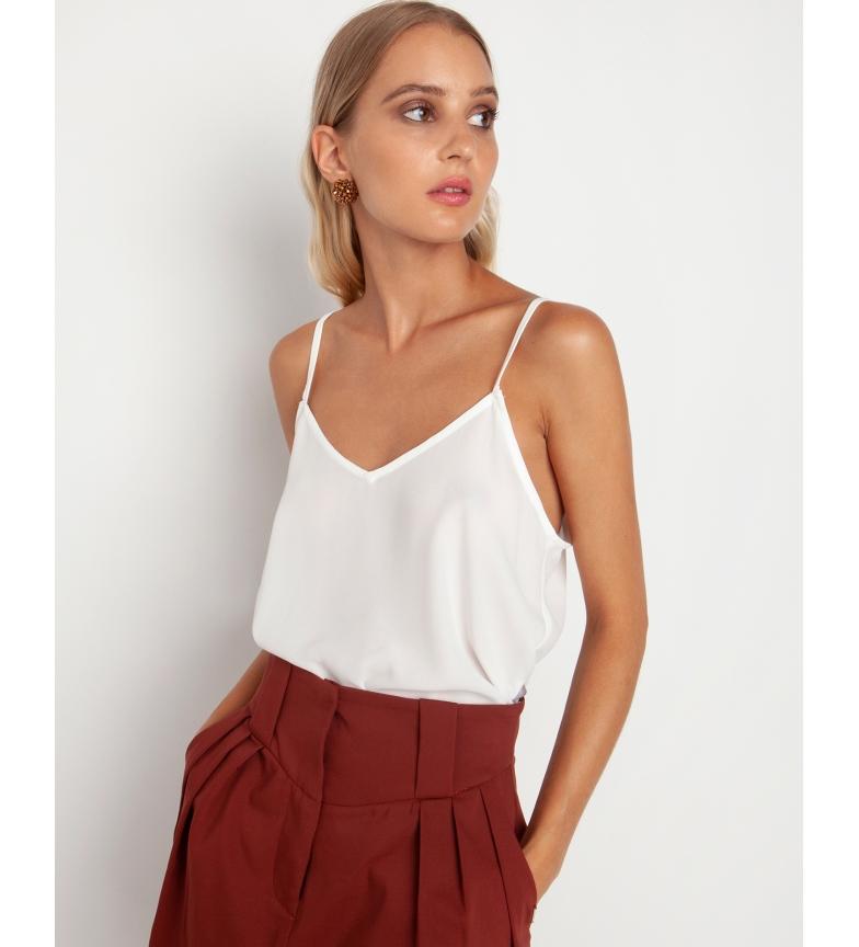 Comprar Toi&Moi White V-neck blouse with straps and V-neckline