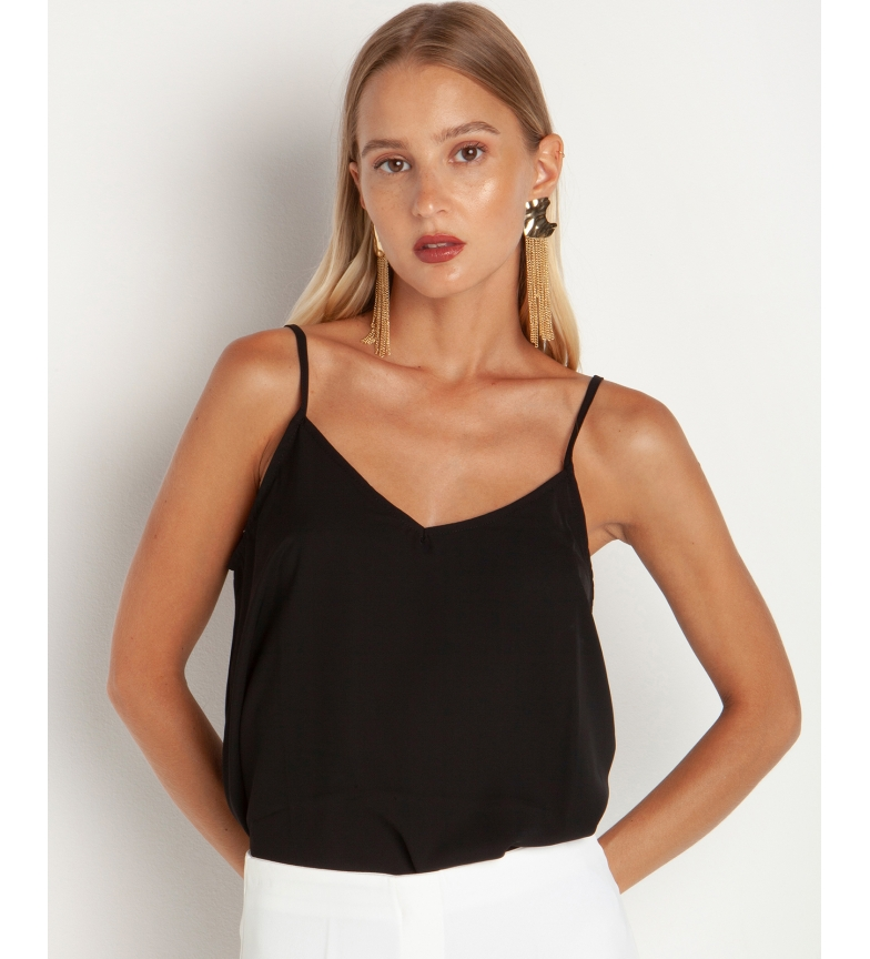Comprar Toi&Moi Black strapless blouse with V-neck and V-neckline