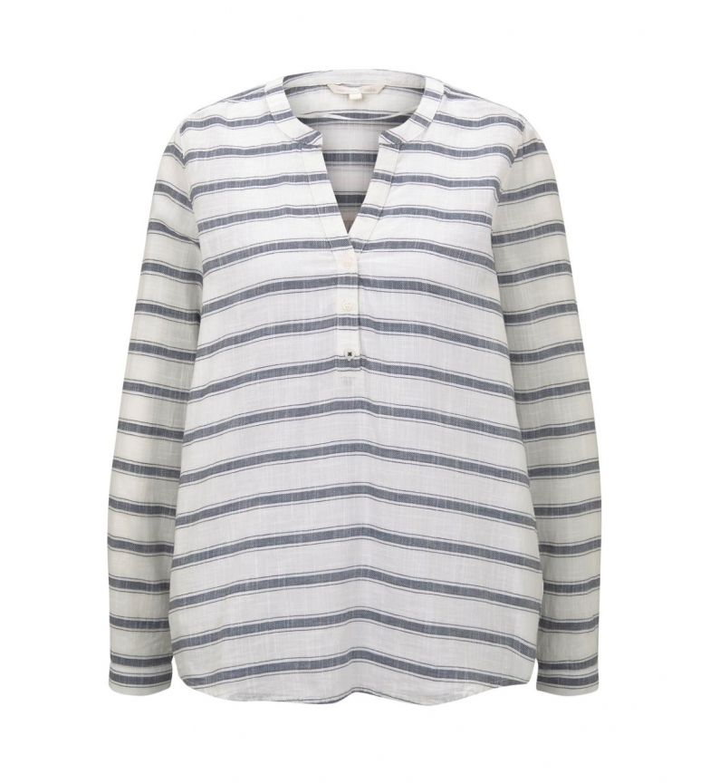 Comprar Tom Tailor Henley style blouse with navy stripes