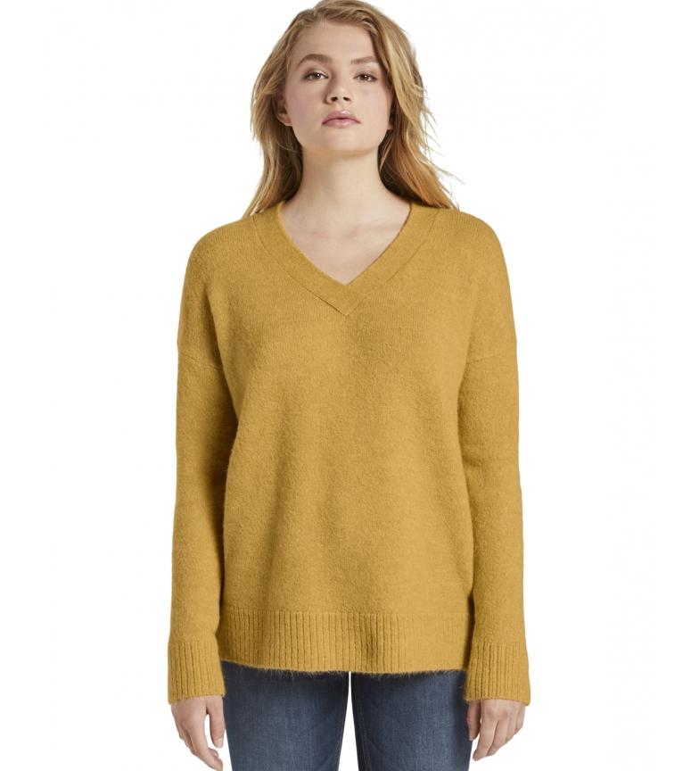 Comprar Tom Tailor Camisola de pescoço em V amarela