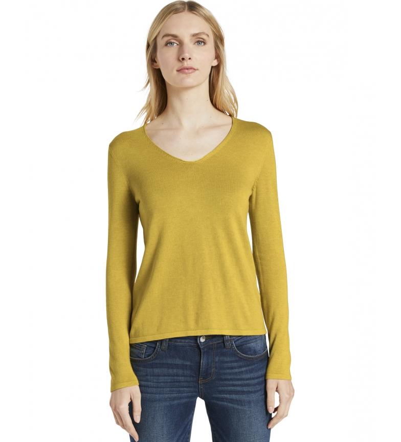 Comprar Tom Tailor Jersey escote en V amarillo