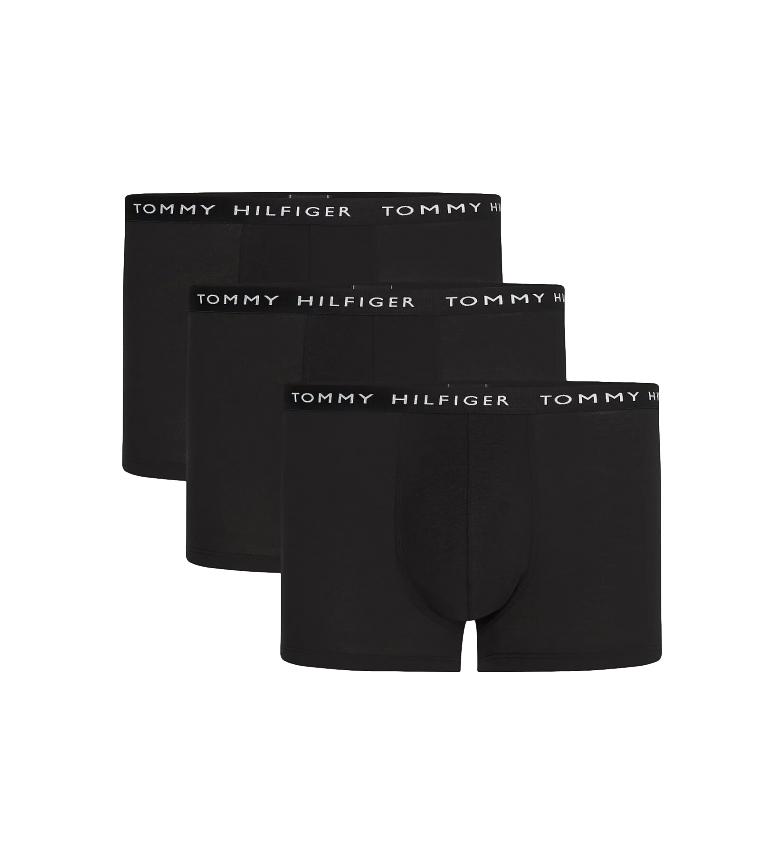 Comprar Tommy Hilfiger Confezione da 3 boxer Trunk Essentials con logo neri