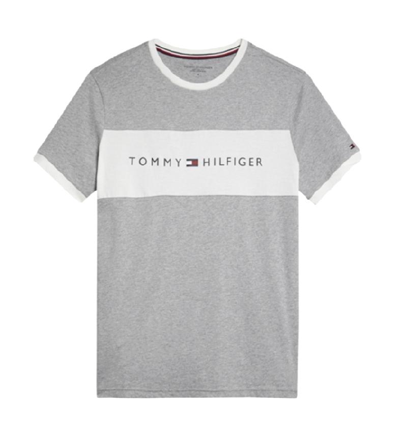 Tommy Hilfiger T-shirt gris avec logo CN SS