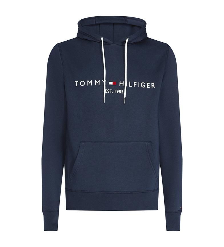 Tommy Hilfiger Felpa con cappuccio blu navy con logo Core