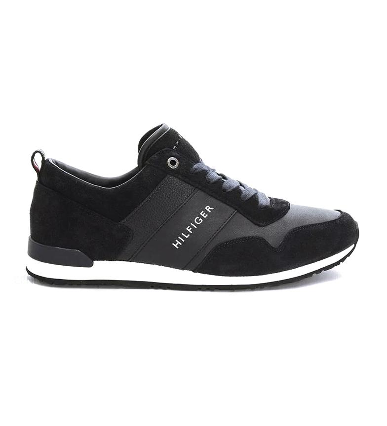 Comprar Tommy Hilfiger Zapatillas de piel Iconic Leather Suede Mix Runner negro, balnco