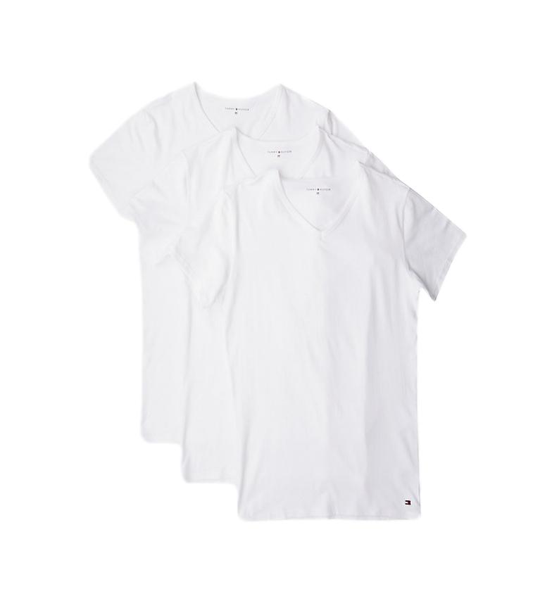 Comprar Tommy Hilfiger Lot de 3 T-shirts Stretch VN blanc