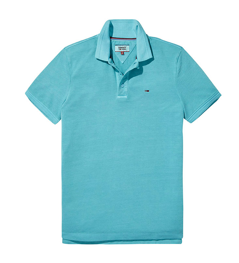 41e362f7903f0 Comprar Tommy Hilfiger Polo slim Tom verde agua - Esdemarca Store ...