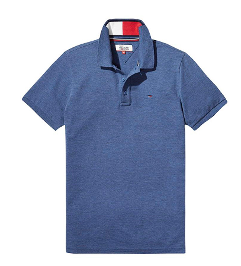 Azul Tommy Polo Slim Hilfiger Tom UzMqSVp