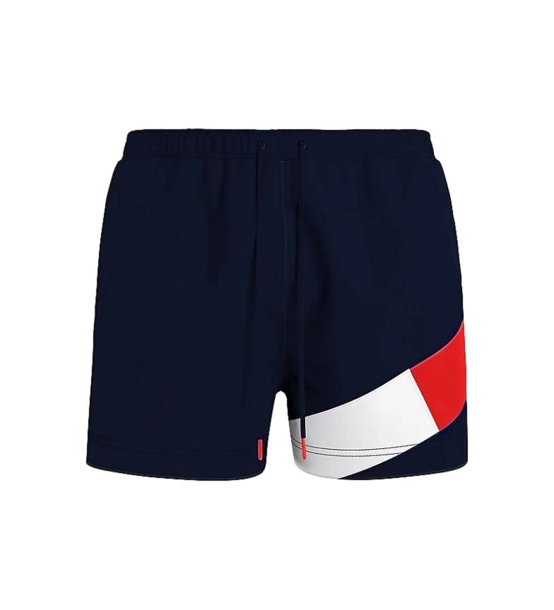 Comprar Tommy Hilfiger Costume da bagno di media lunghezza con design a blocchi di colore blu navy