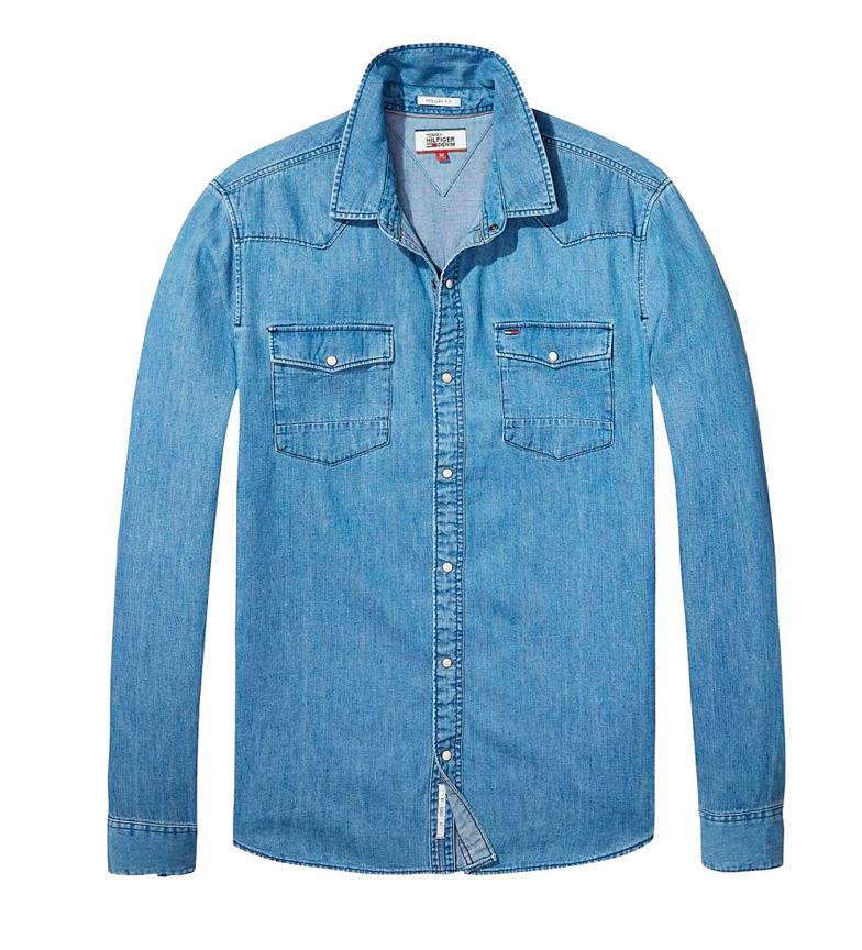 Comprar Tommy Hilfiger Camisa denim Silver azul medio