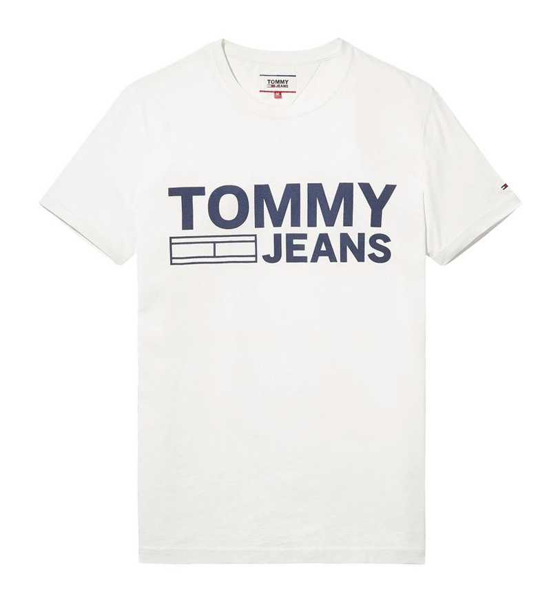 Tommy-Hilfiger-Camiseta-Leman-Blanco-Gris-Azul-Negro-Casual-Algodon-Manga