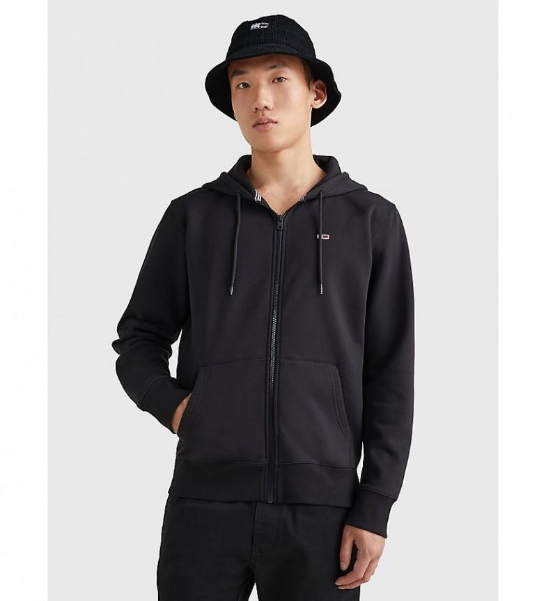 Tommy Hilfiger Sudadera con capucha TJM Regular Fleece Zip negro